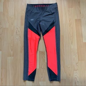 Under Armour Pink & Grey Compression Leggings